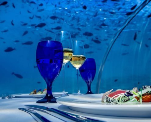 Hurawalhi Maldives Resort undersea restaurant