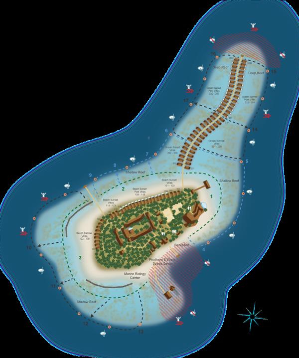 Hurawalhi Maldives snorkelling map
