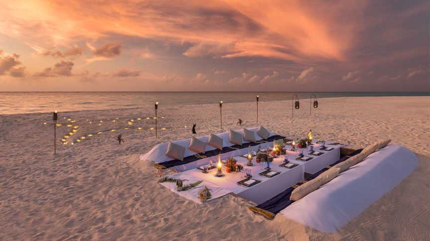Dream Island Dinner Hurawalhi Maldives