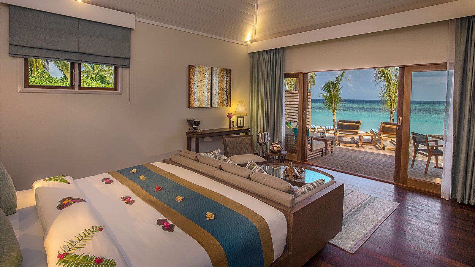 Beach Villa Hurawalhi Maldives Resort Villas Maldives