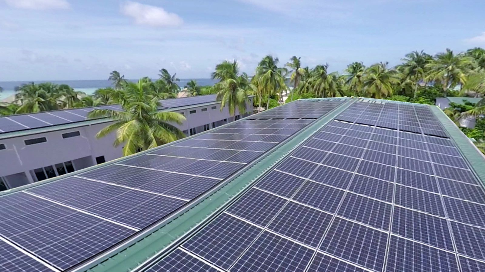 Environment Friendly Solar Power Hurawalhi Maldives