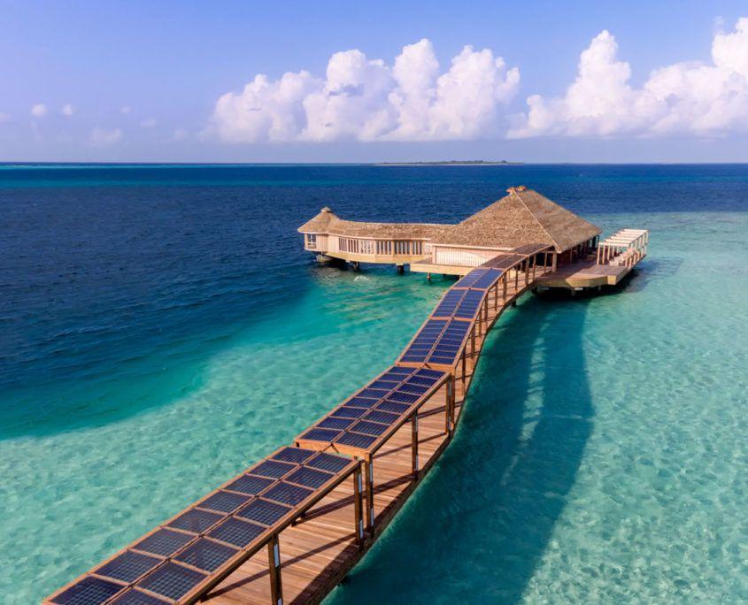 Solar Panels at Hurawalhi Maldives