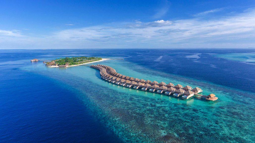 Остров Хуравали, виллы на воде
