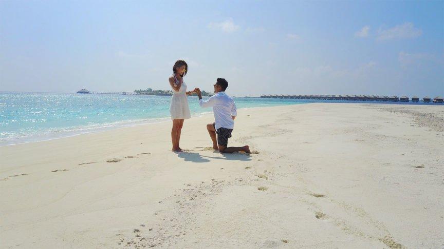 First wedding proposal at Hurawalhi Resort Maldives