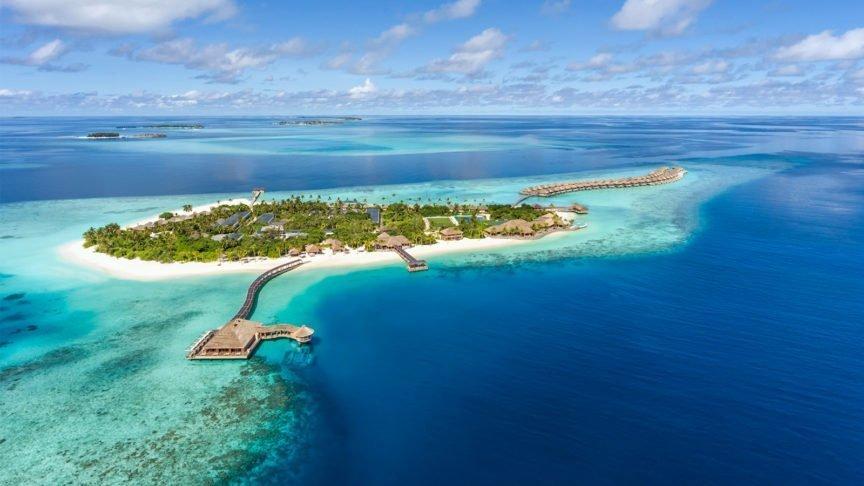 Aerial Hurawalhi Maldives