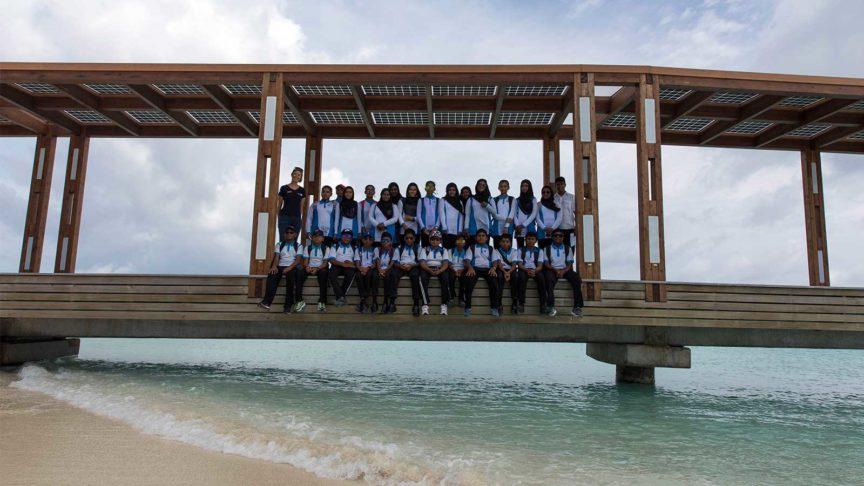 School Visit at Hurawalhi Maldives