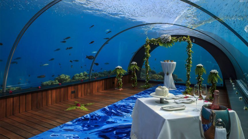 Maldives Wedding Venue 5.8 Undersea Restaurant