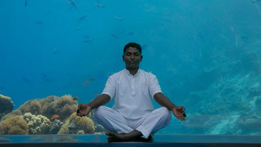 Meditation at Hurawalhi Maldives