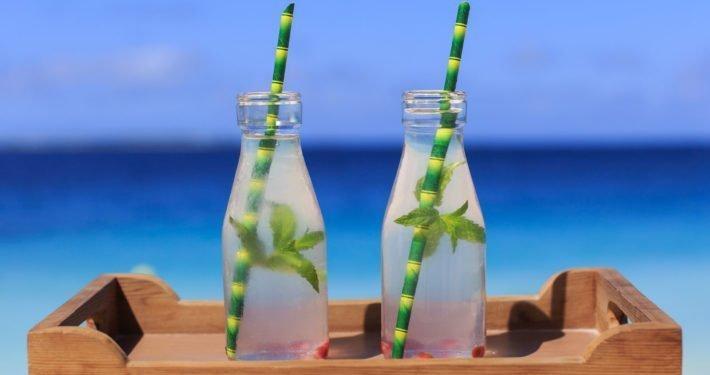 Bamboo straws Hurawalhi Maldives