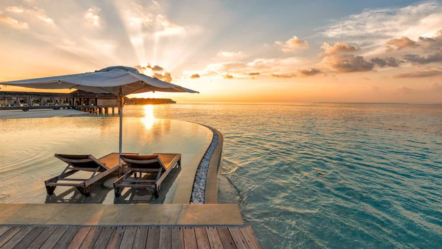 Pool at Hurawalhi Maldives
