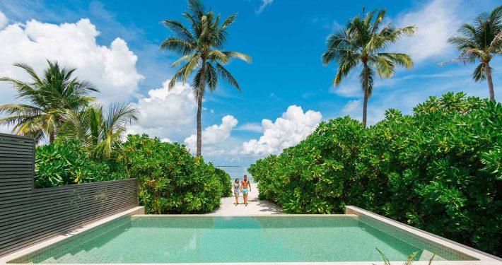 Maldives luxury pool villa